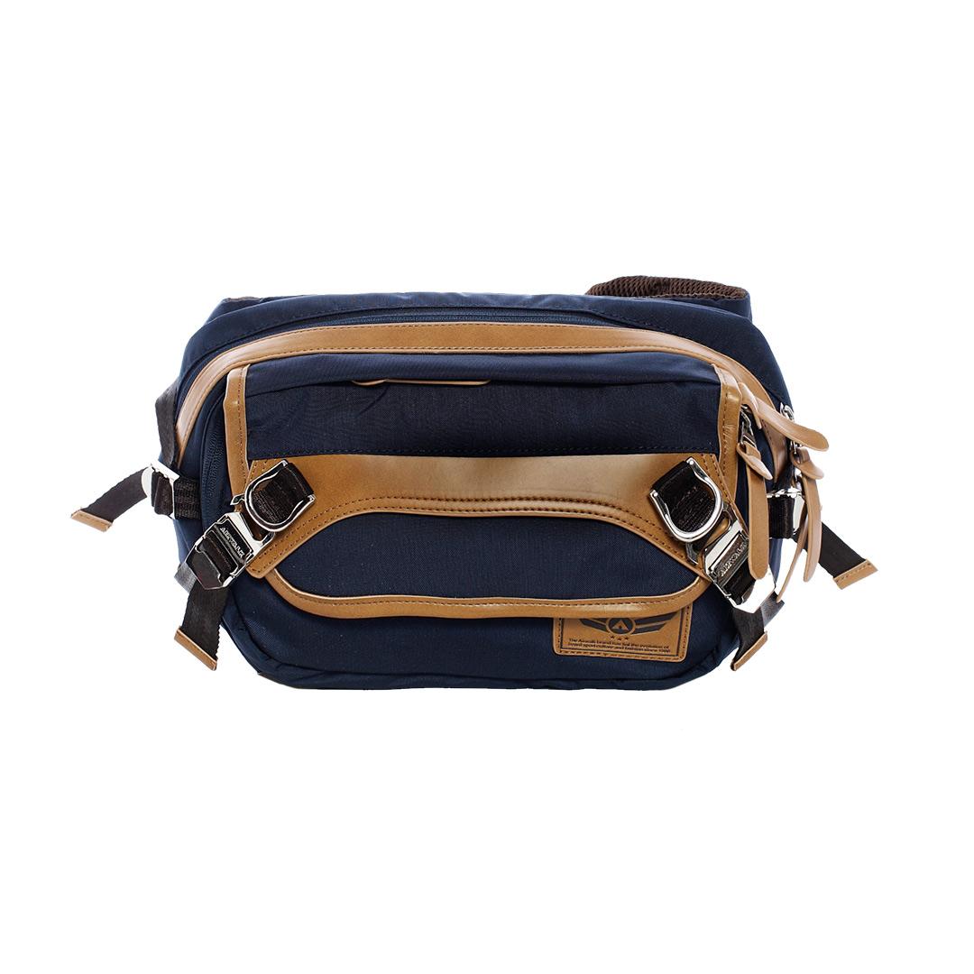 AIRWALK ~ 黑金系列 高強度布料側背包 ~ 深藍
