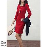 WINCEYS 優雅知性連身裙-紅
