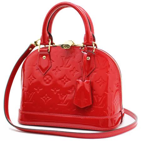 Louis Vuitton LV M90174 ALMA BB VERNIS漆皮附斜背帶小艾瑪包.紅_預購