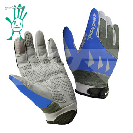 【good.hang】夏季超透氣彈性止滑單車手套#33236 (可觸控螢幕材質) -藍色