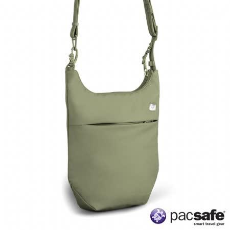 Pacsafe 2L SLINGSAFE100GII直式側背包(女)(淺灰綠)