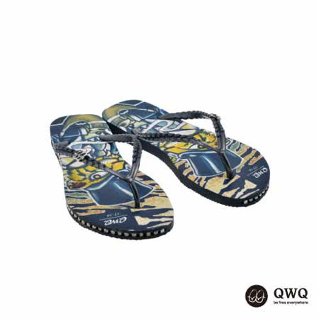 【QWQ】創意設計夾腳拖鞋-Gentleman Tiger-黑(有鑽)