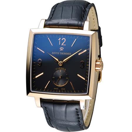 梭曼 Revue Thommen Carre Cambre系列小秒針腕錶 17085.3567