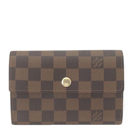 Louis Vuitton LV N63067 Alexandra 棋盤格紋扣式零錢中夾_預購