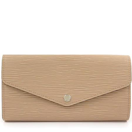 Louis Vuitton LV M60724 Sarah EPI水波紋皮革發財包扣式長夾.沙色_預購