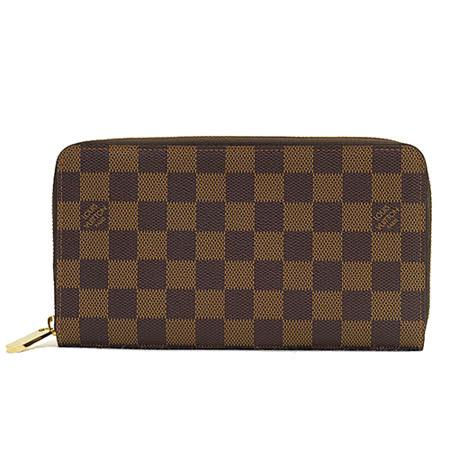Louis Vuitton LV N60003 棋盤格紋護照信用卡拉鍊長夾_預購