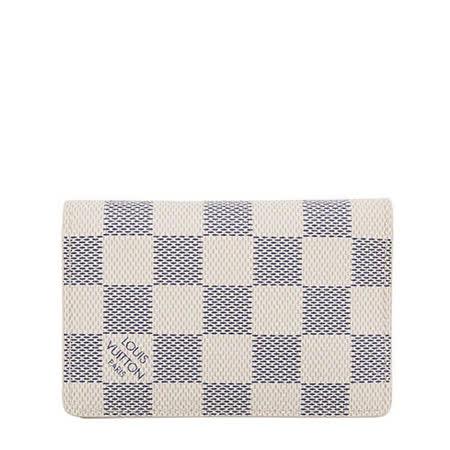 Louis Vuitton LV N63144 白棋盤格紋信用卡簡便短夾_預購