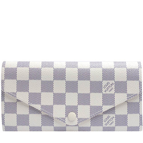 Louis Vuitton LV N63545 Josephine 白棋盤格紋三折活動零錢