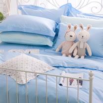 OLIVIA 《LOUISA 鄉村格紋》單人床包枕套兩件組