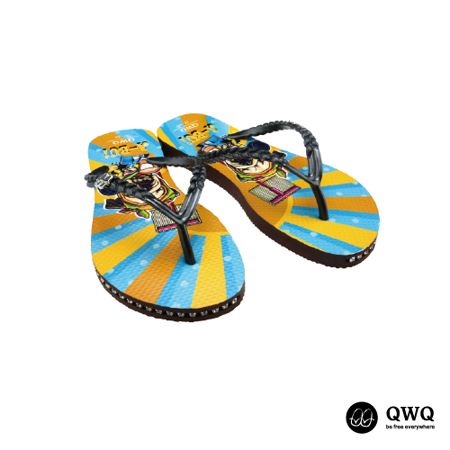 【QWQ】創意設計夾腳拖鞋-A Bui-咖啡(有鑽)