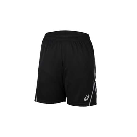 (男) ASICS 排球練習短褲- 亞瑟士 黑白