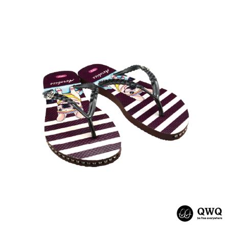 【QWQ】創意設計夾腳拖鞋-Aerobics-咖啡(有鑽)