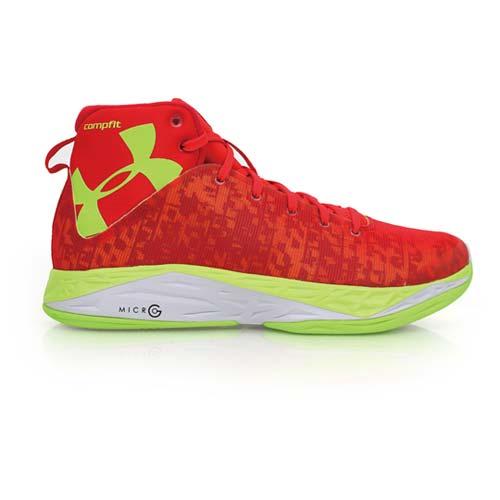 ^(男^) UNDER ARMOUR ANATOMIXNANOG 籃球鞋 紅螢光綠