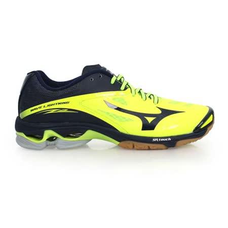 (男) MIZUNO 排球鞋 LIGHTNING Z2-美津濃 螢光綠丈青