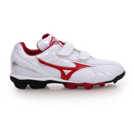 (童) MIZUNO FRANCHISE F EDITION JR男女棒壘球鞋 白紅
