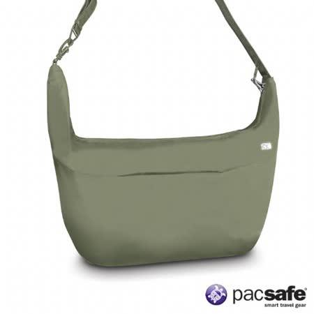 Pacsafe 19L SLINGSAFE400GII彎月側背包(女)(淺灰綠)