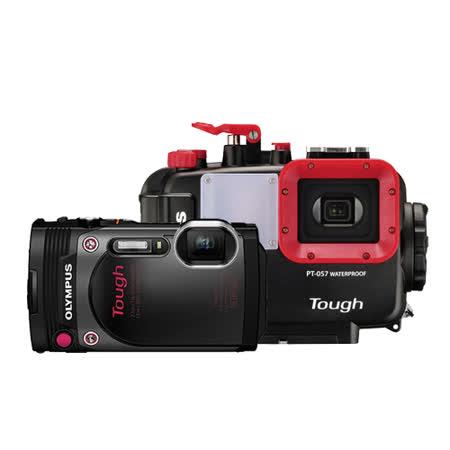OLYMPUS TG-870 防水相機(公司貨) -加送64G記憶卡+專用電池X2+座充+漂浮手腕帶+清潔組+保護貼+原廠硬殼包