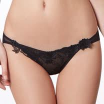 【LADY】綺幻星辰系列 低腰三角褲(光暈黑)