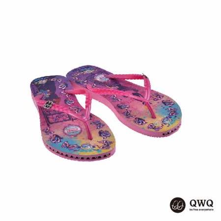 【QWQ】創意設計夾腳拖鞋-Cat Princess-粉(有鑽)