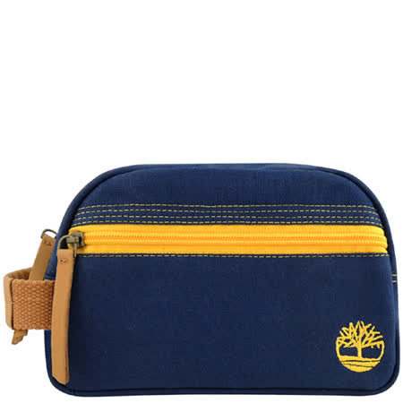 Timberland 帆布化妝包/手抓包-藍色【大型 】
