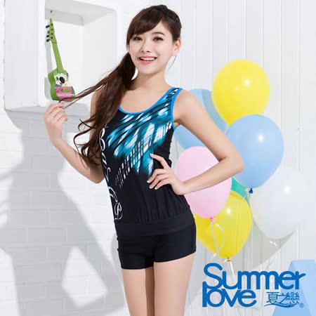 【SUMMERLOVE 夏之戀】日系風格長版二件式泳衣S15707