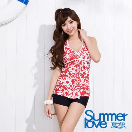 【SUMMERLOVE 夏之戀】豔麗佳人長版二件式泳衣S15733