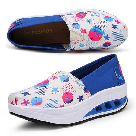 《JOYCE》普普風亮麗色彩氣墊式健走鞋