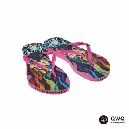 【QWQ】創意設計夾腳拖鞋-水之親-粉(有鑽)