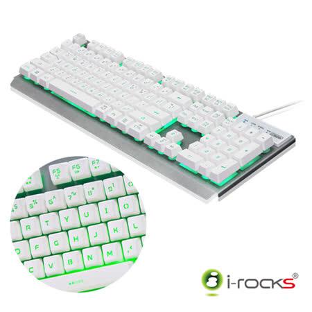 i-Rocks K62E多色彩金屬背光遊戲鍵盤-白