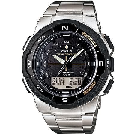 CASIO 戶外運動全新指針數位雙顯錶SGW-500系列(鋼帶)_SGW-500HD-1B