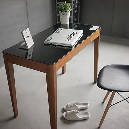 《Peachy life》美學設計寬100強化玻璃工作桌/電腦桌(2色可選)