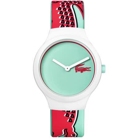 Lacoste Goa 鱷魚法式玩色運動時尚錶-薄荷綠/40mm L2020114