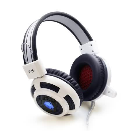 F15 專業電競 七色炫光 耳罩式耳機麥克風