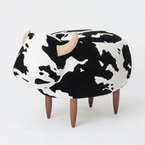 PUSH! 居家生活用品 牛哞哞小凳子小矮凳腳凳換鞋凳I45