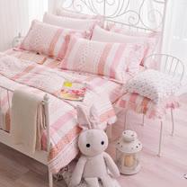 OLIVIA 《維多利亞 粉》特大雙人床包枕套三件組