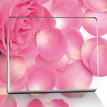 窩自在 DIY無痕創意牆貼/隨意貼-粉紅花瓣開關貼 (9X9)