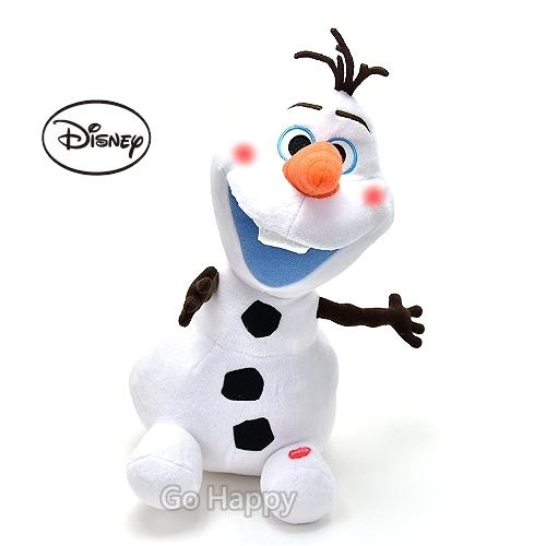 Disney冰雪奇緣~害羞雪寶Olaf~發光絨毛玩偶