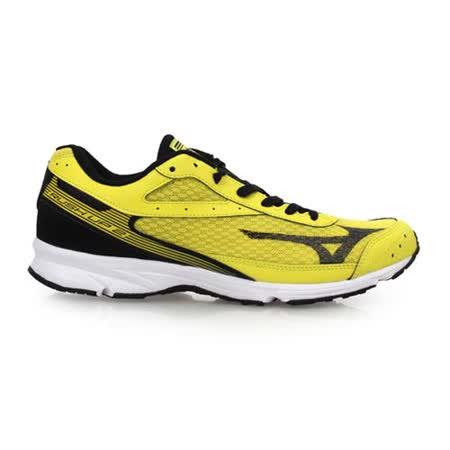 (男) MIZUNO RUSH UP 2 路跑鞋- 慢跑 健身 美津濃 黃黑