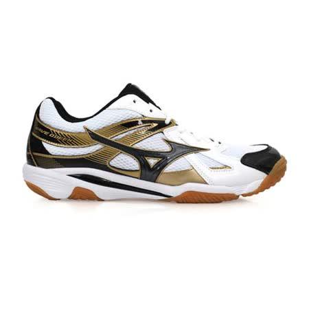 (男) MIZUNO WAVE ODEEN 排球鞋- 羽球 健身 美津濃 白金黑