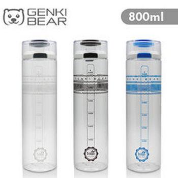 Genki Bear 雅格Tritan彈蓋水壺(800ml)