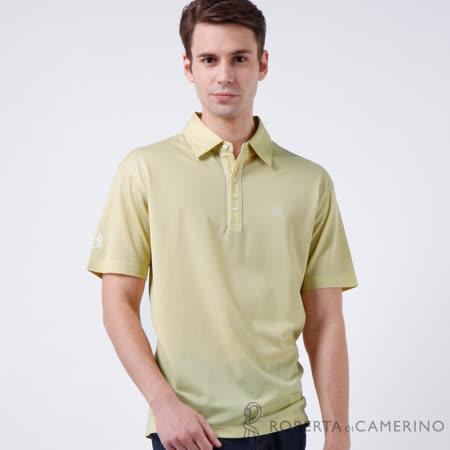 ROBERTA諾貝達 台灣製  簡約設計純棉短袖POLO衫 淺綠