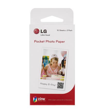 LG Pocket Photo 專用相紙 (PS2203 2*3 吋/ 30入)