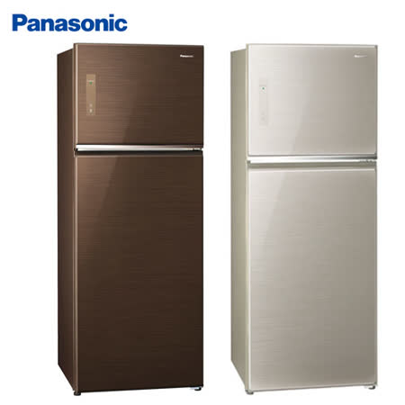 Panasonic 國際牌422公升玻璃ECONAVI變頻雙門冰箱NR-B427TG