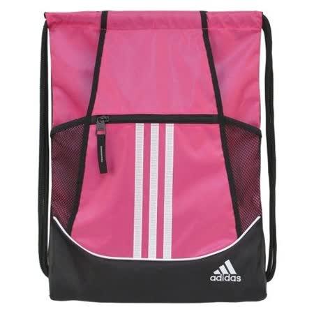 【Adidas】2016時尚聯盟粉色抽繩後背包【預購】