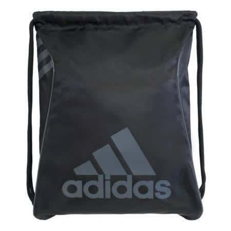 【Adidas】2016時尚Burst爆裂黑色抽繩後背包【預購】