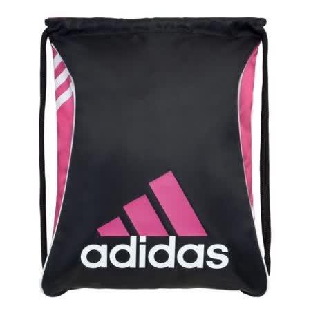【Adidas】2016時尚Burst爆裂黑粉紅色抽繩後背包【預購】