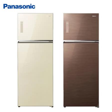 Panasonic 國際牌485公升玻璃ECONAVI變頻雙門冰箱NR-B487TG