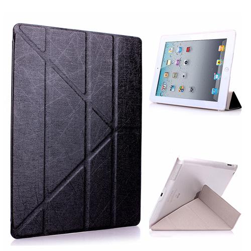 Apple iPad mini3/mini2/mini Y折式側翻皮套(黑)附保貼