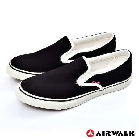 AIRWALK(男) - 宅男必敗 懶人式直套式帆布鞋 - 酷懶黑