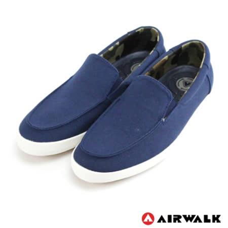 AIRWALK(男) - 立線悠活系列 直套帆布鞋 - 迷人藍